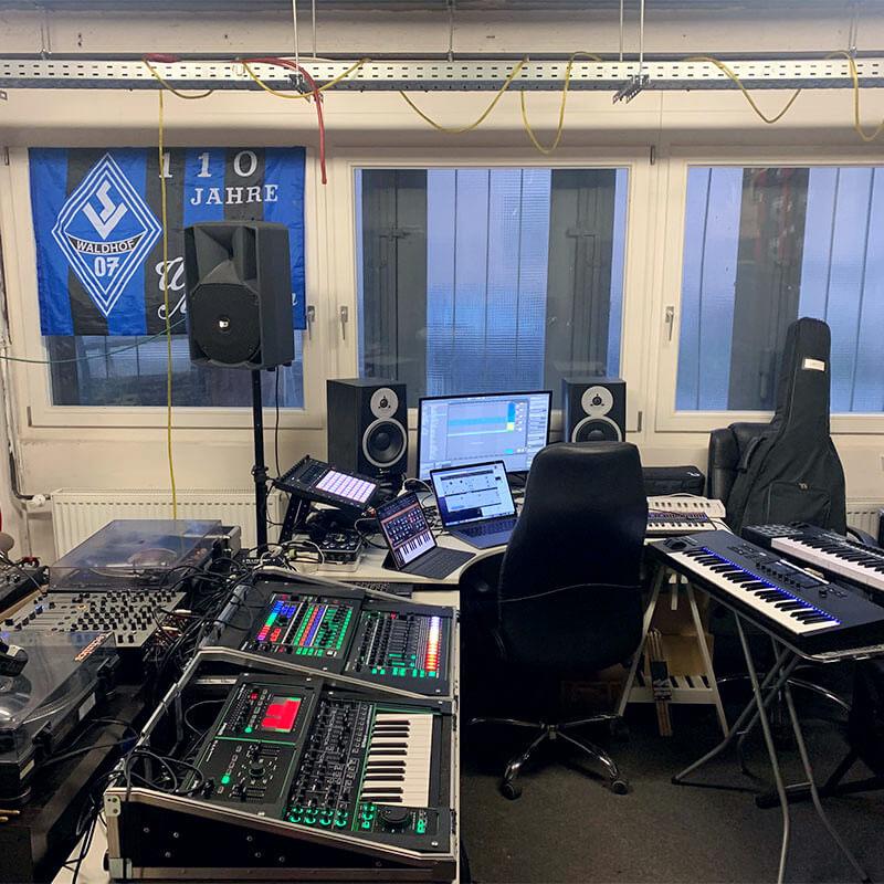 Einblick in Bennys Tonstudio in Heidelberg